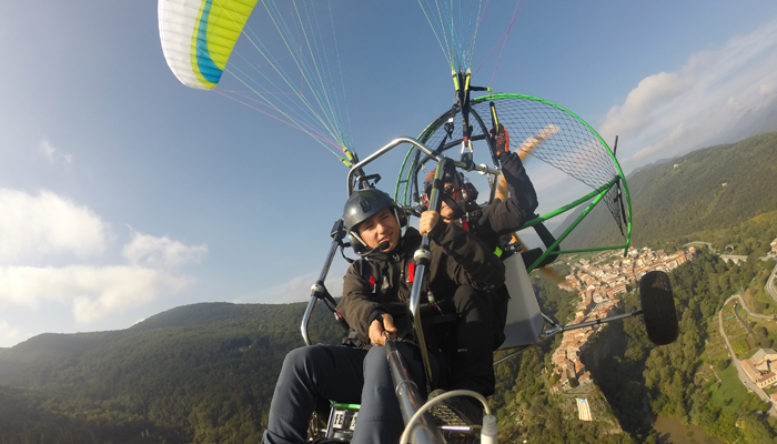 Flight Paramotor the Garrotxa