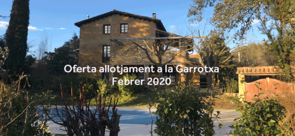 Februari sales bieden accommodatie in Garrotxa